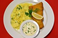 Fried Alaska cod fish fillet -