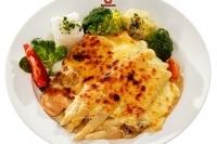 Gegrilltes Hühnerbrustfilet mit Butterspargel -